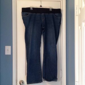 Maternity jeans, size 18, elastic band top